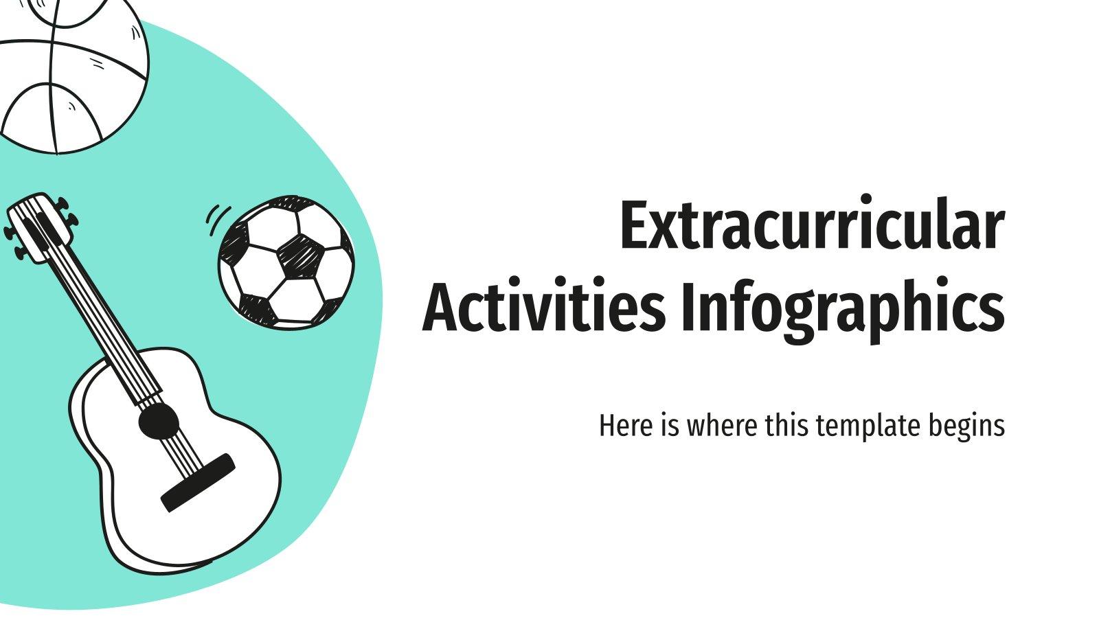 Außerschulische Aktivitäten Infografiken Präsentationsvorlage