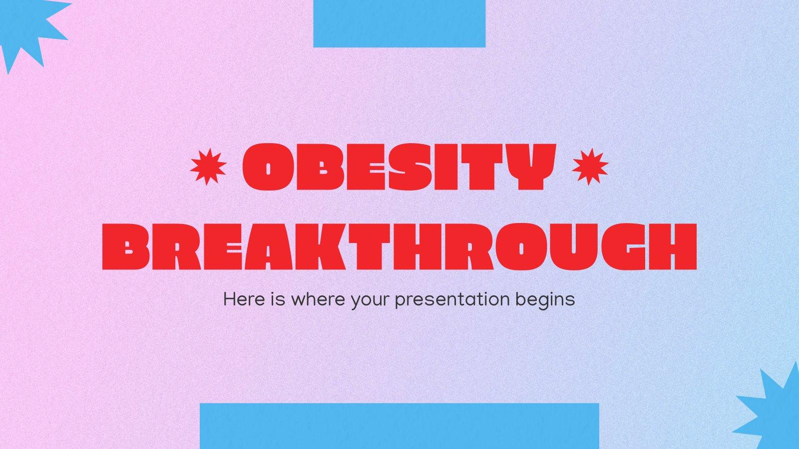 Plantilla de presentación Avance sobre la obesidad