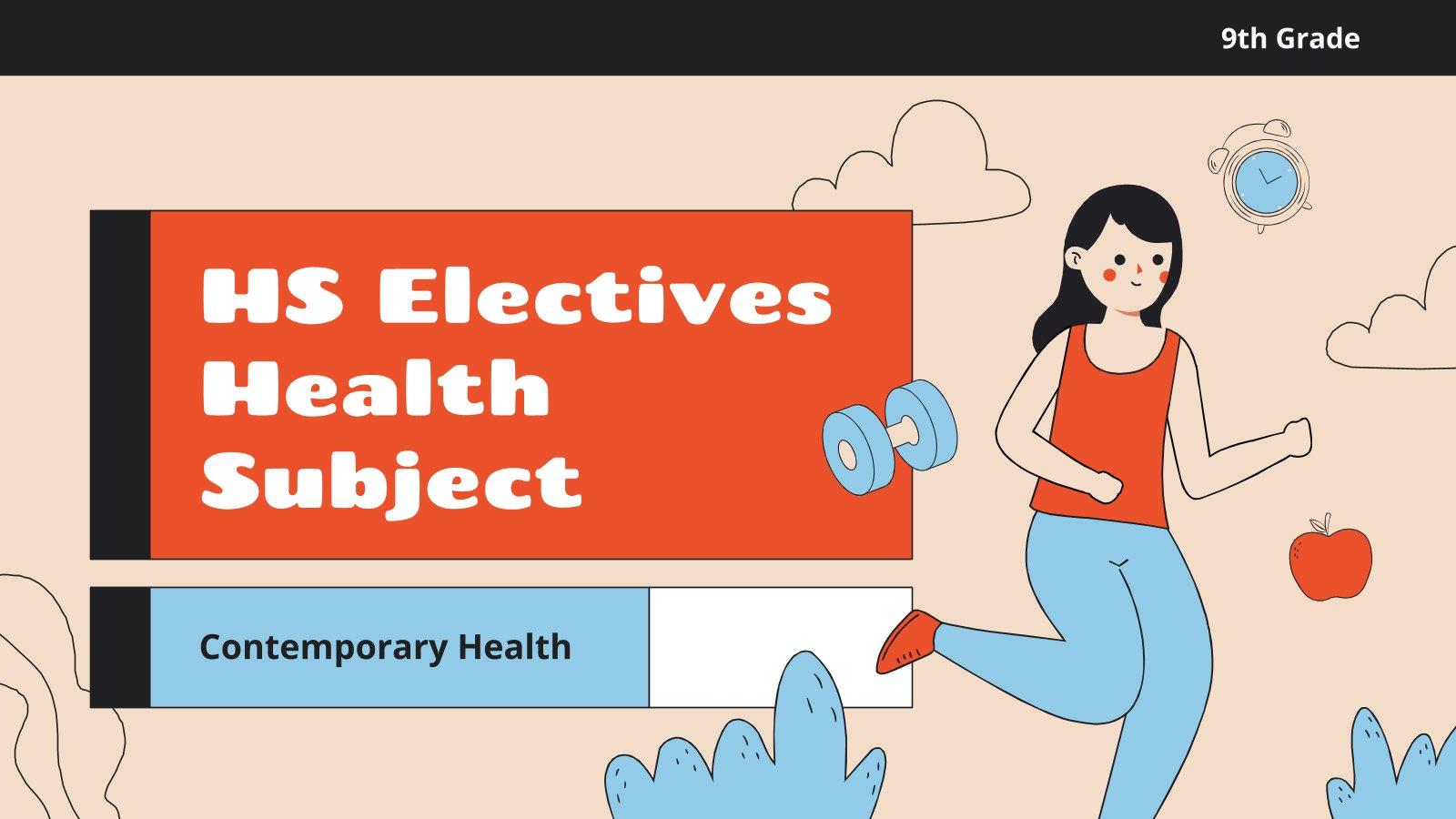 Gesundheit für die 9. Klasse: Aktuelle Gesundheit Präsentationsvorlage