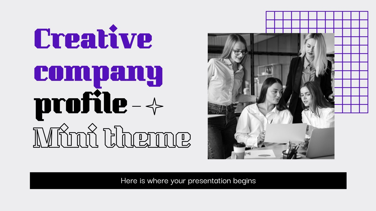 Creative Company Profile Minitheme presentation template