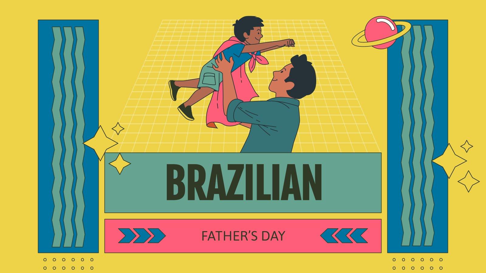 Plantilla de presentación Día del padre en Brasil