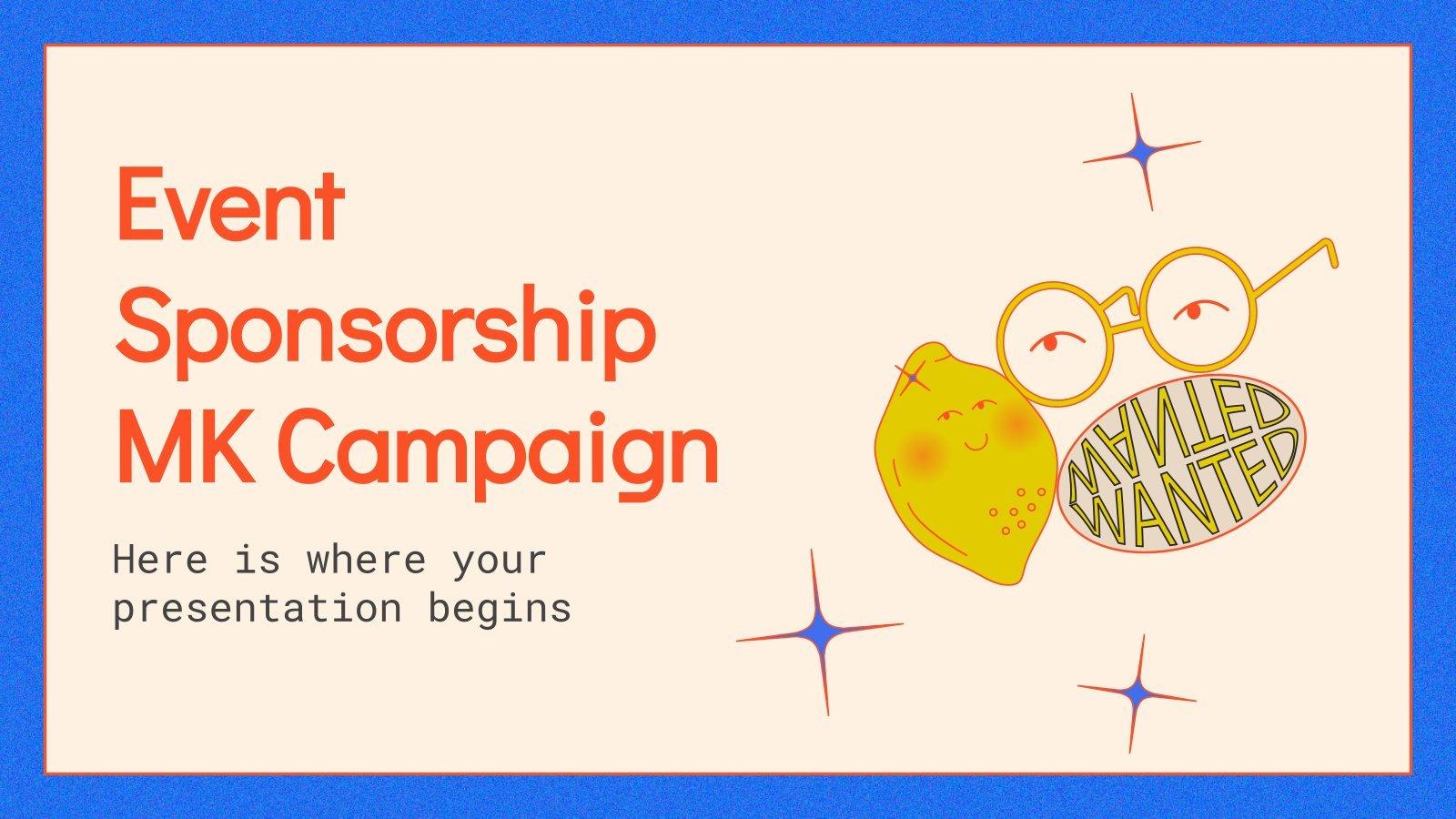 Modelo de apresentação Campanha de marketing de patrocínio de eventos