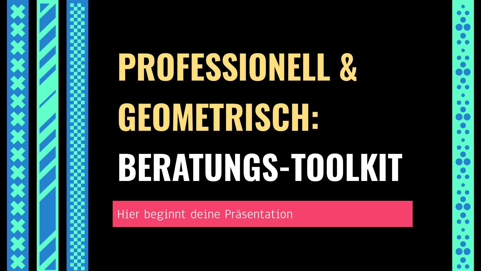 Plantilla de presentación Estilo profesional y geométrico: herramientas de consultoría