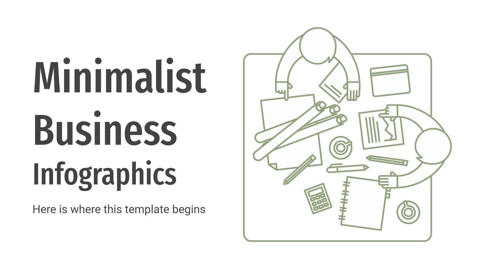 Modelo de apresentação Infográficos minimalistas de negócios