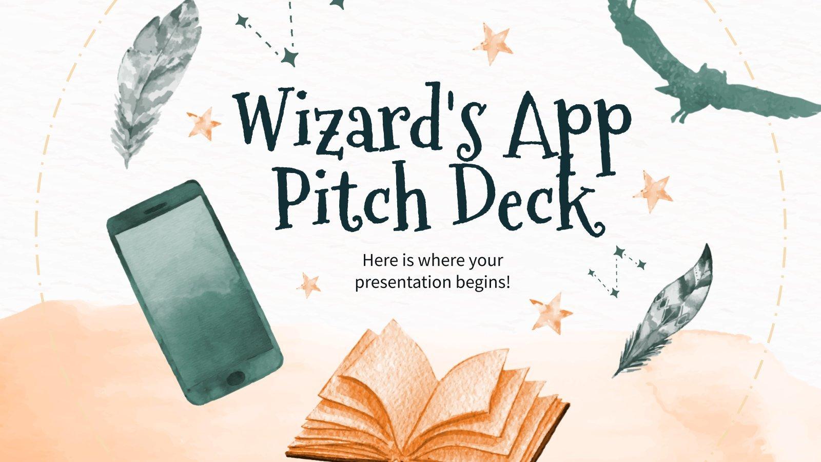 Pitch deck de l'application pour sorciers : Modèles de présentation
