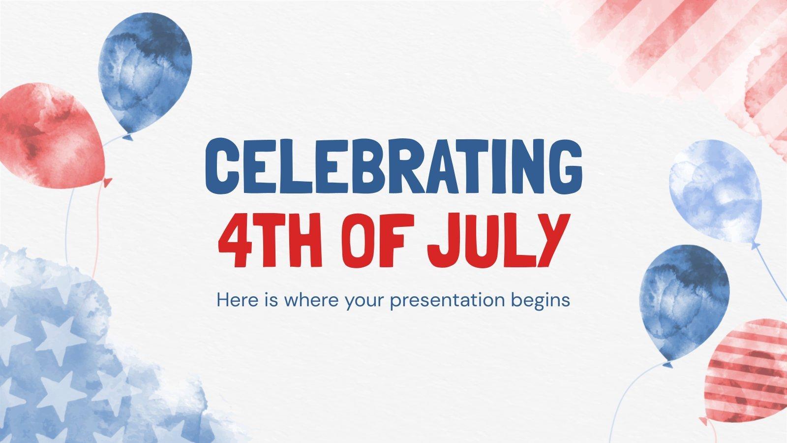 Plantilla de presentación Fiesta del 4 de julio