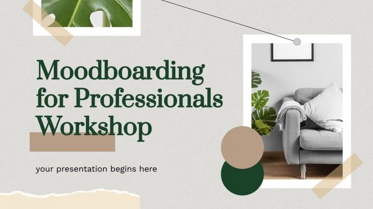 Atelier Moodboarding pour les professionnels : Modèles de présentation