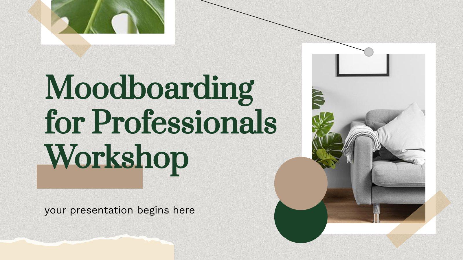 Moodboarding für Profis Workshop Präsentationsvorlage
