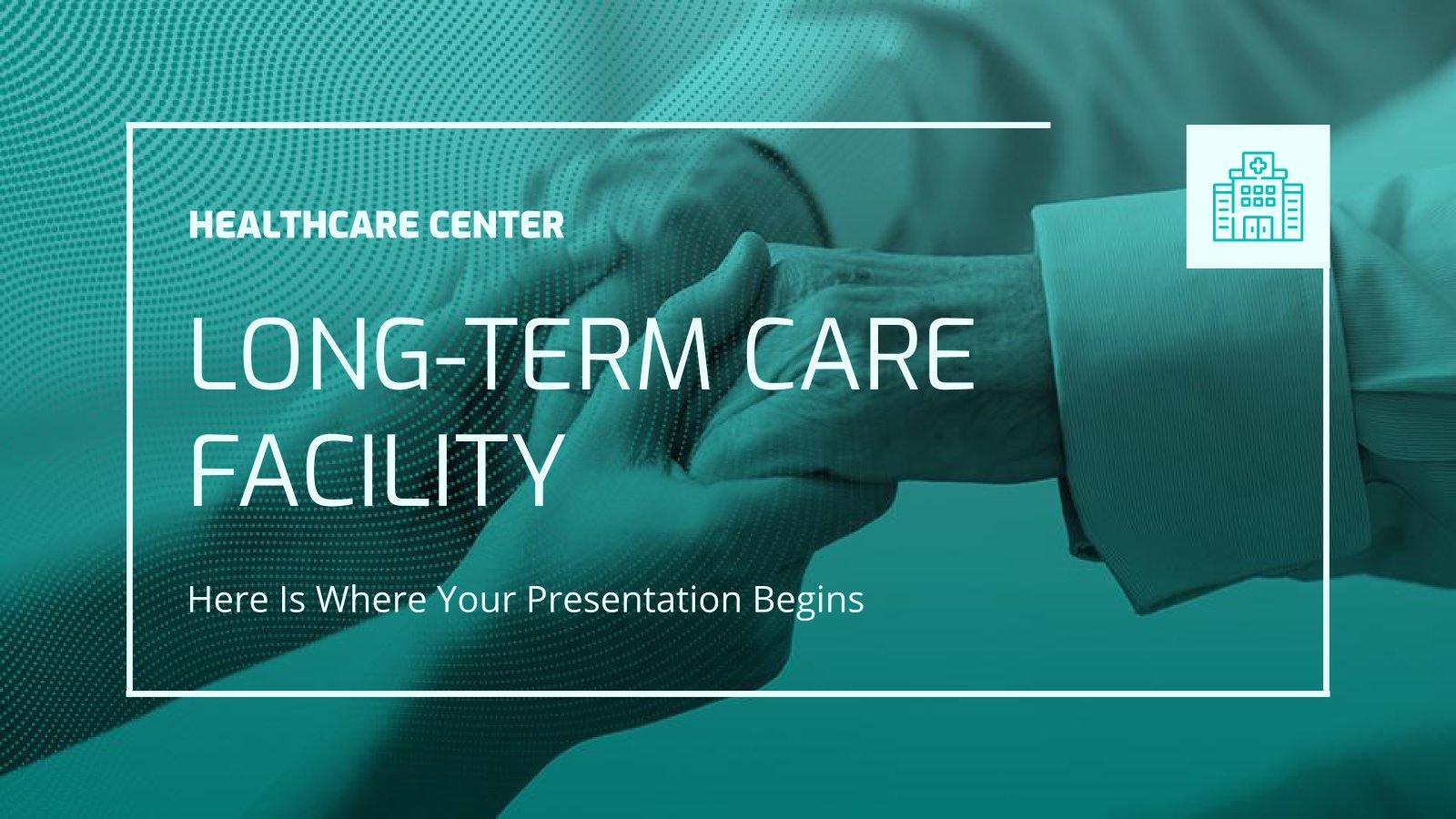 Plantilla de presentación Centro de cuidados de larga duración