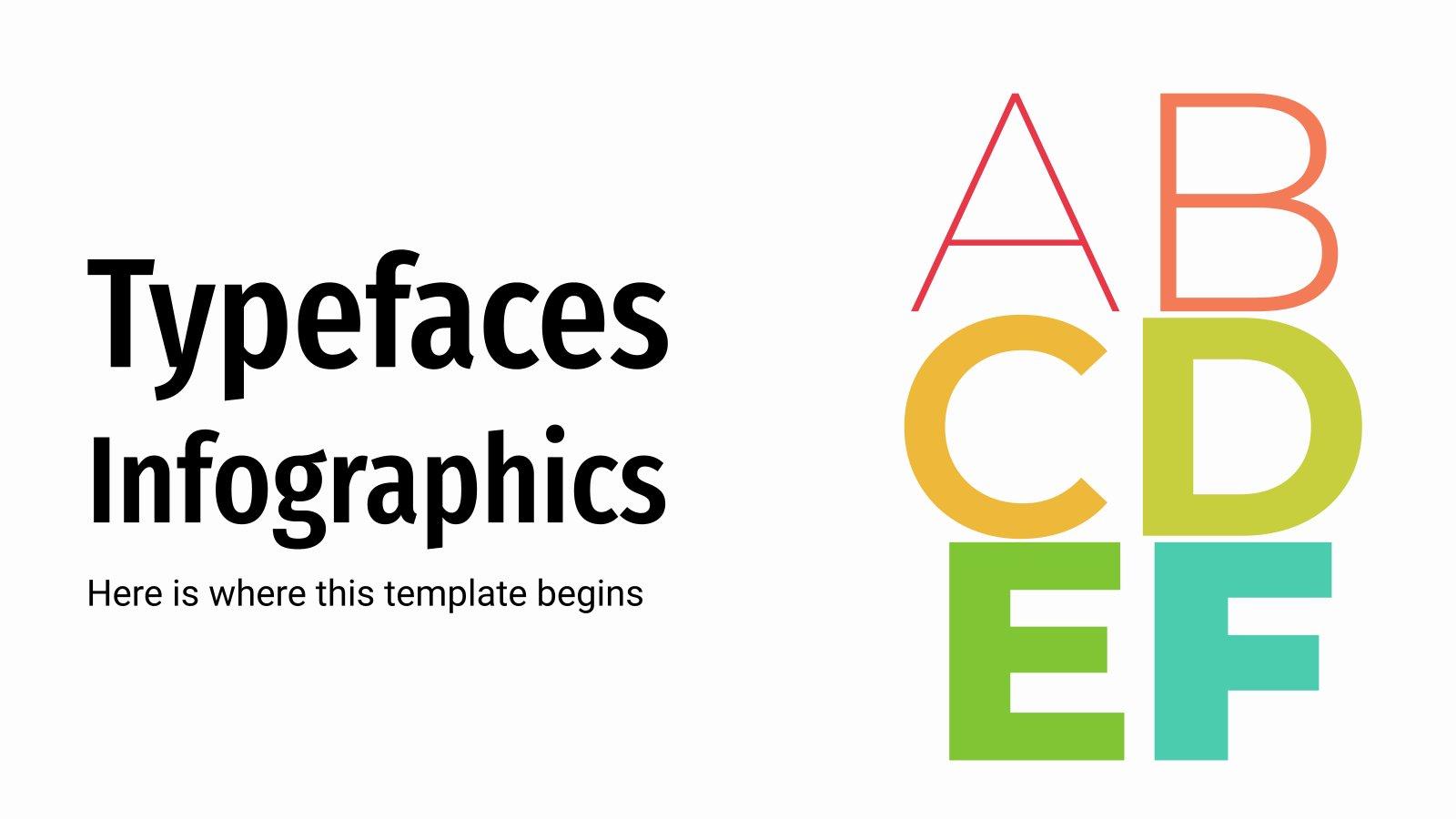 Schriftarten Infografiken Präsentationsvorlage
