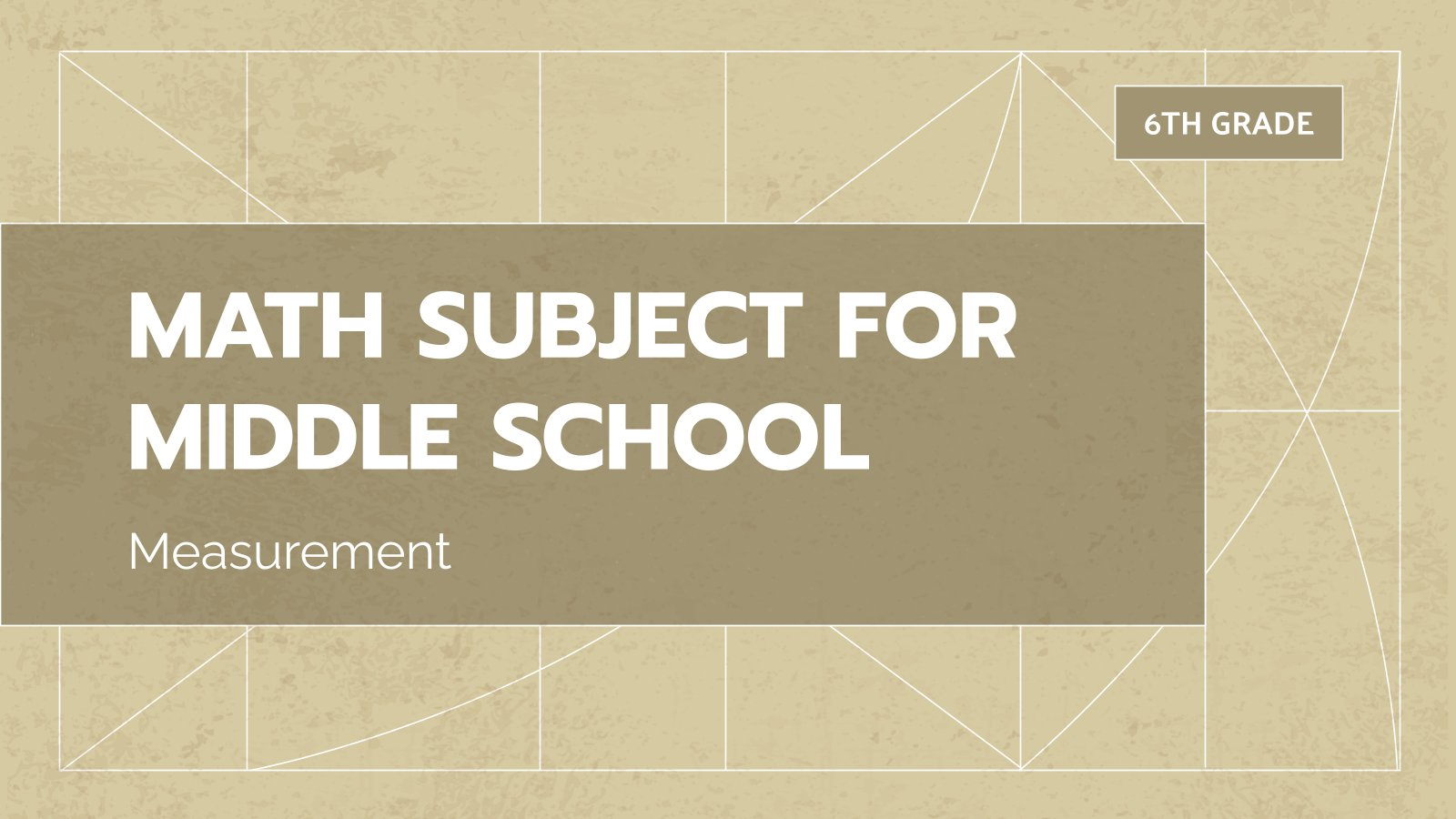 Mathématiques pour le collège : Mesure : Modèles de présentation