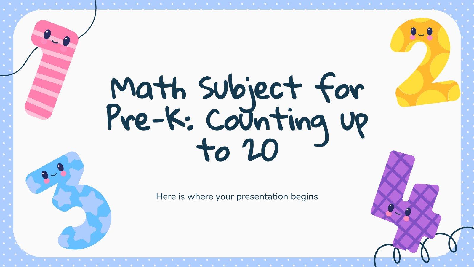 Mathe für Vorschulkinder: Zählen bis 20 Präsentationsvorlage
