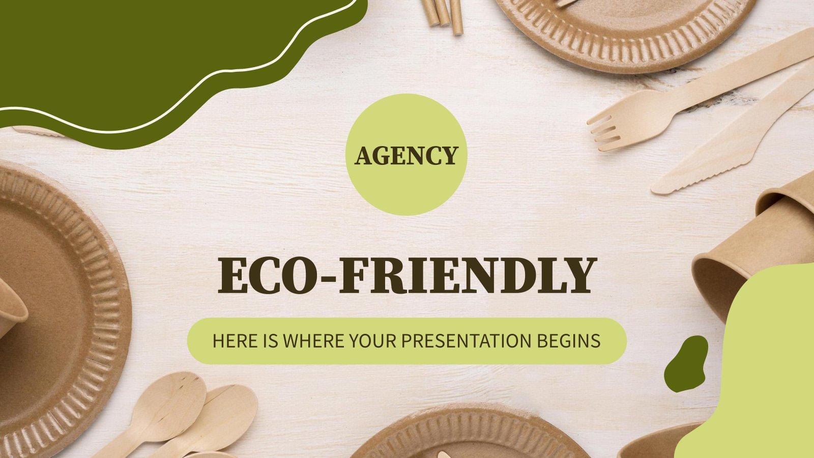 Umweltfreundliche Agentur Präsentationsvorlage