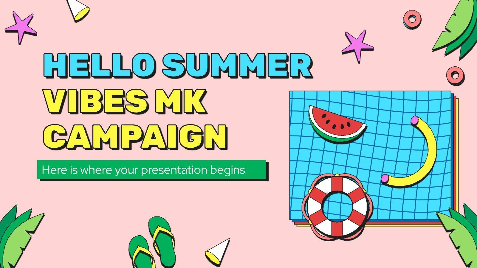 Plantilla de presentación Campaña de marketing veraniega