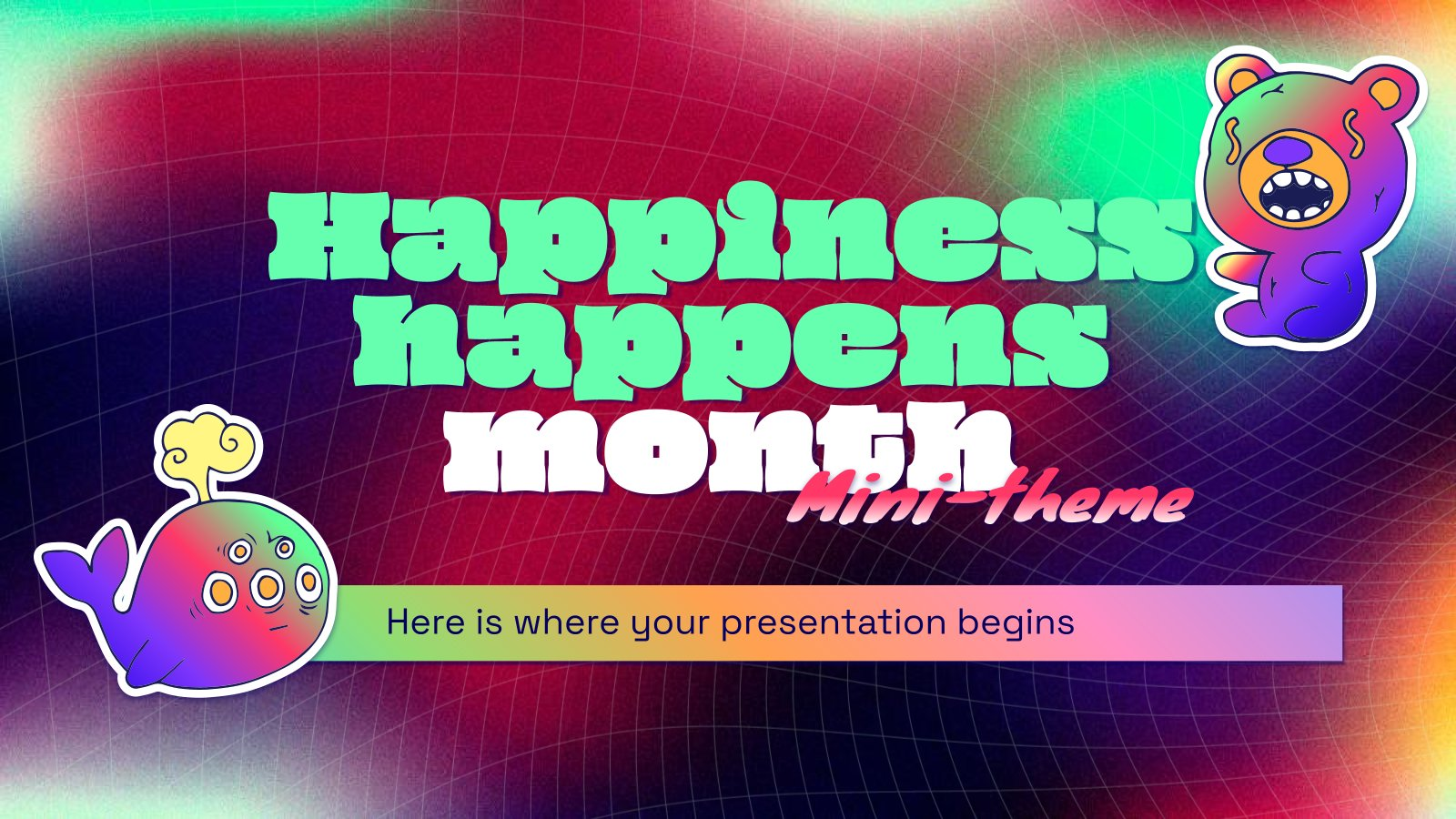 Happiness Happens Month Minitheme presentation template