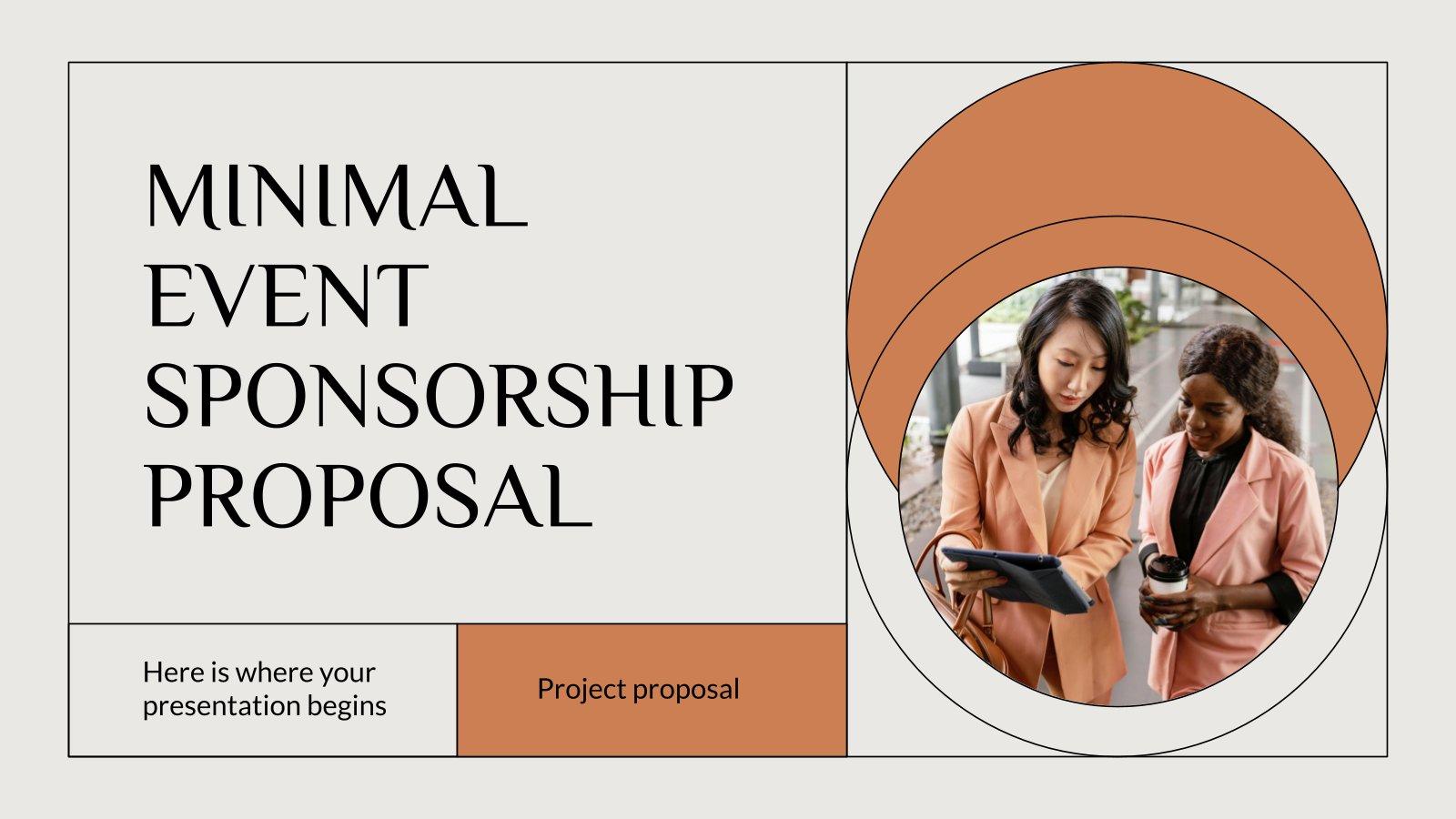 Minimal Event Sponsorship Proposal presentation template