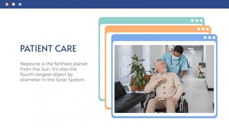 Website eines Gesundheitszentrums Präsentationsvorlage