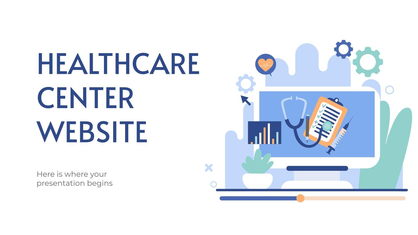 Modelo de apresentação Website do centro de saúde