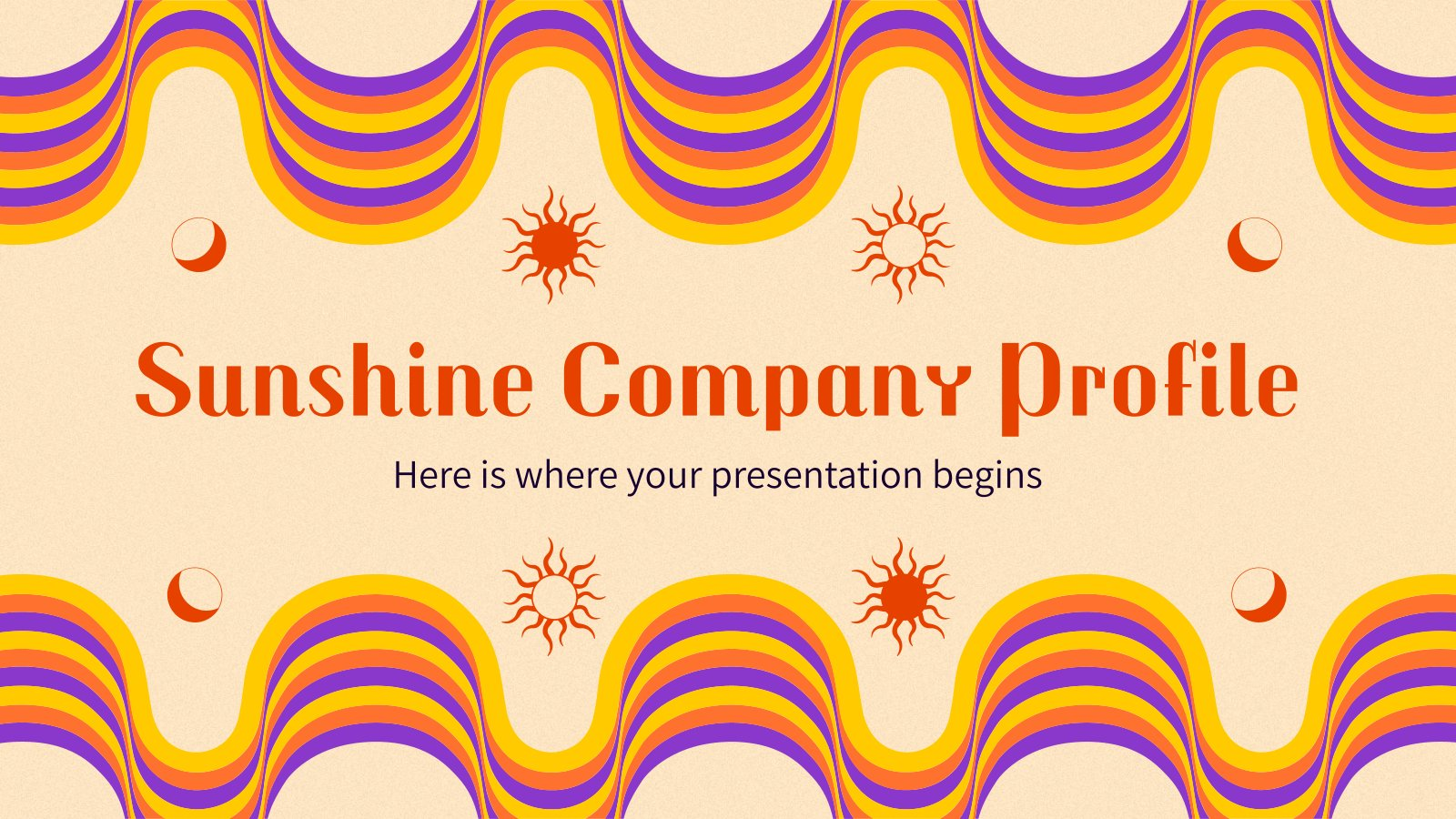 Sunshine Company Profile presentation template