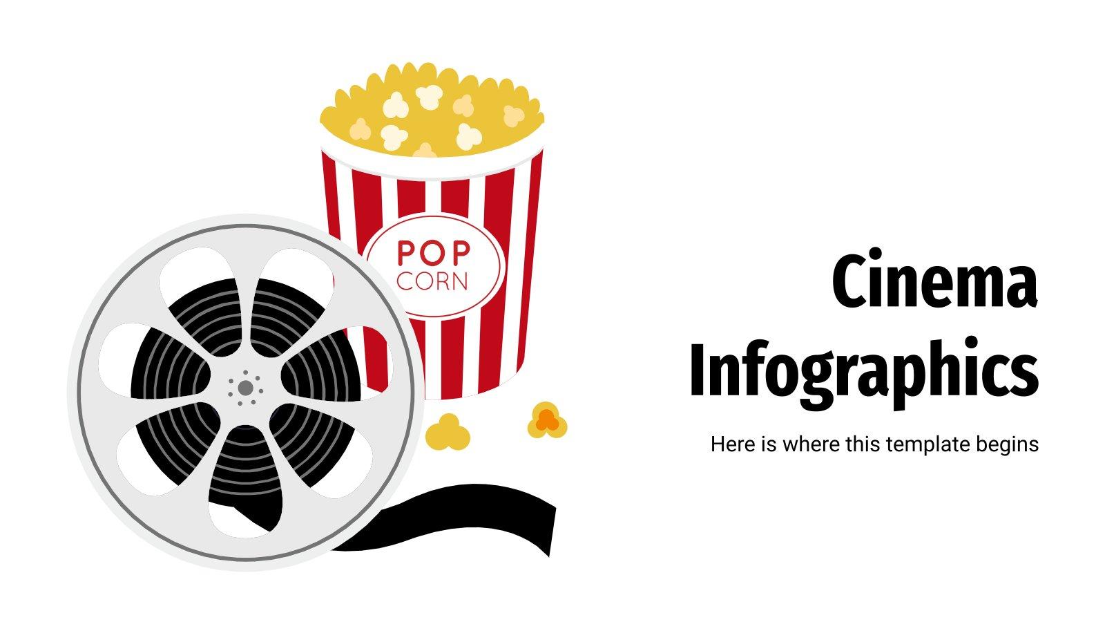 Modelo de apresentação Infográficos de cinema