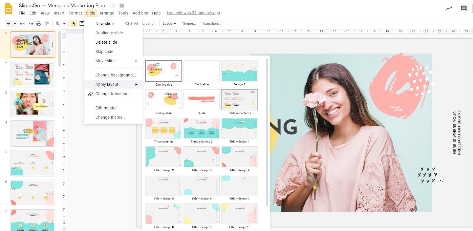 How To Change The Design In Google Slides Tutorial