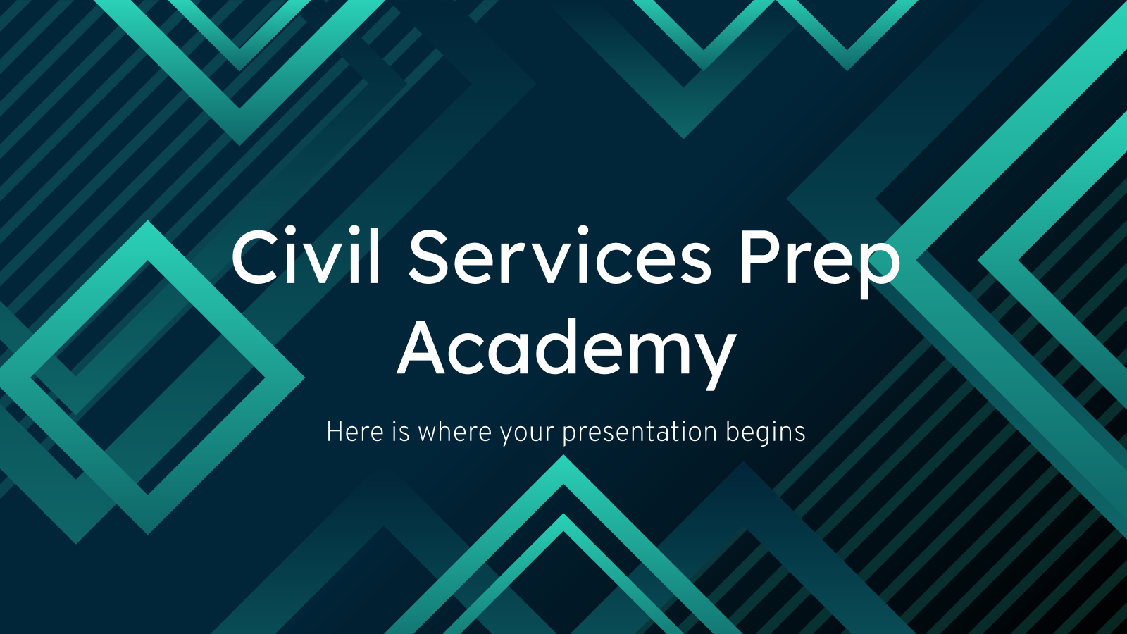 Civil Services Prep Academy presentation template
