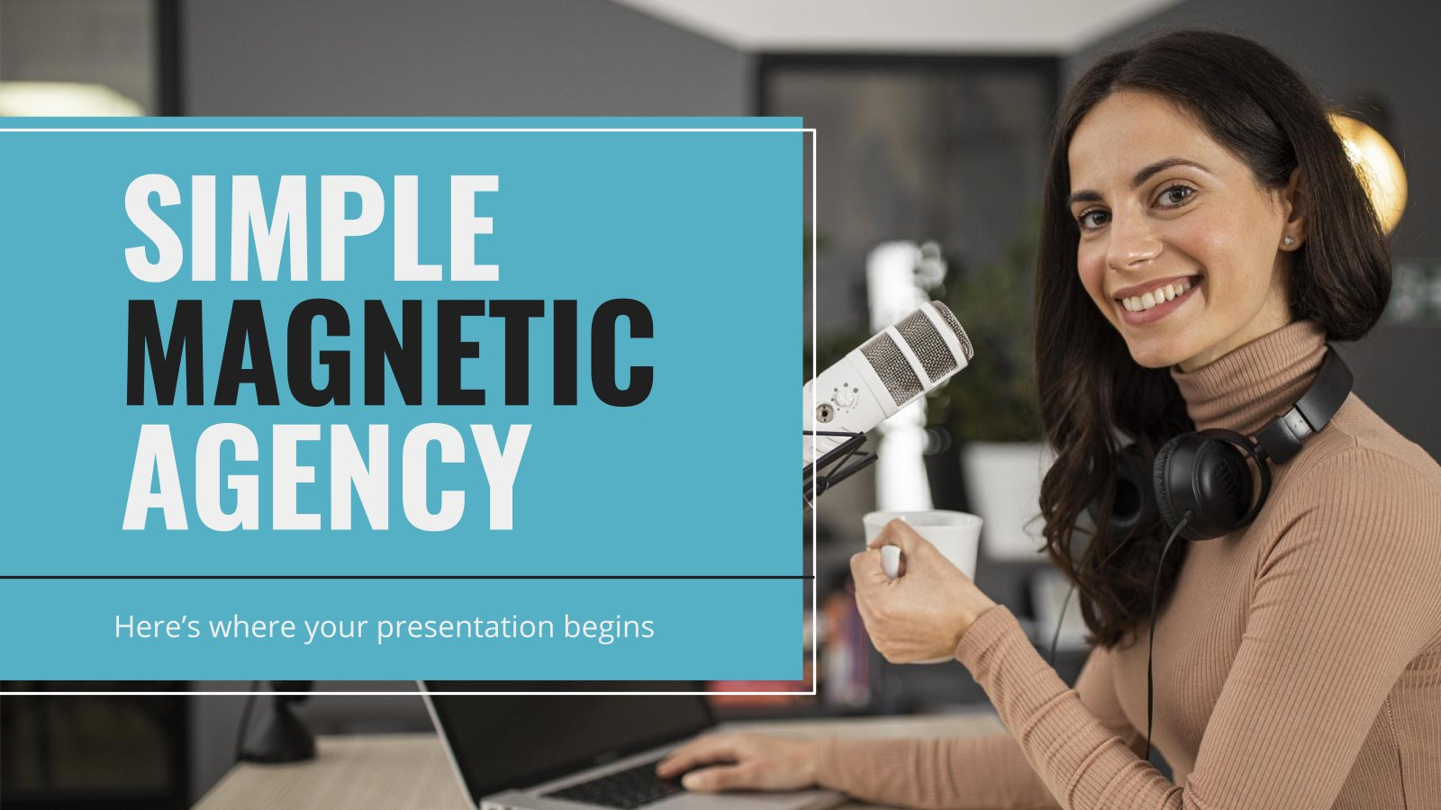 Plantilla de presentación Agencia magnética