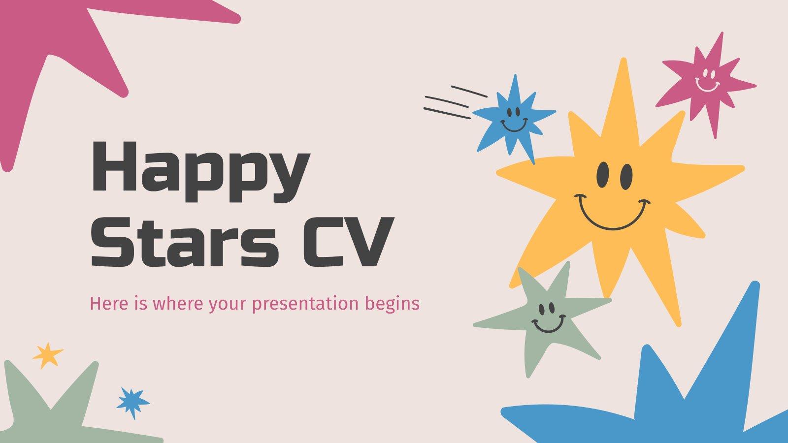 CV des étoiles heureuses : Modèles de présentation