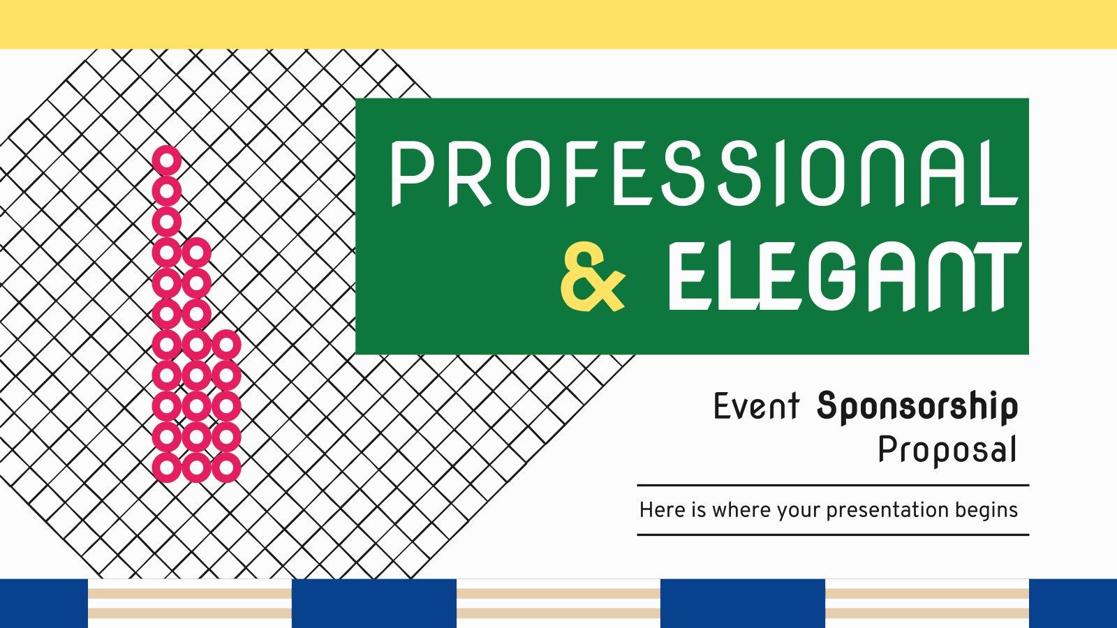 Plantilla de presentación Propuesta profesional y elegante de patrocinio de evento