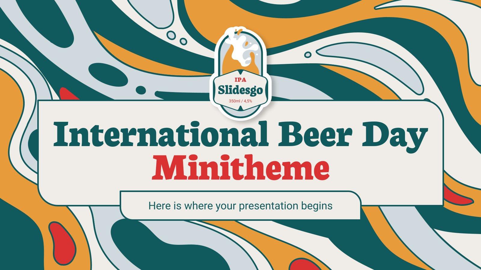 Internationaler Tag des Bieres Minitheme Präsentationsvorlage