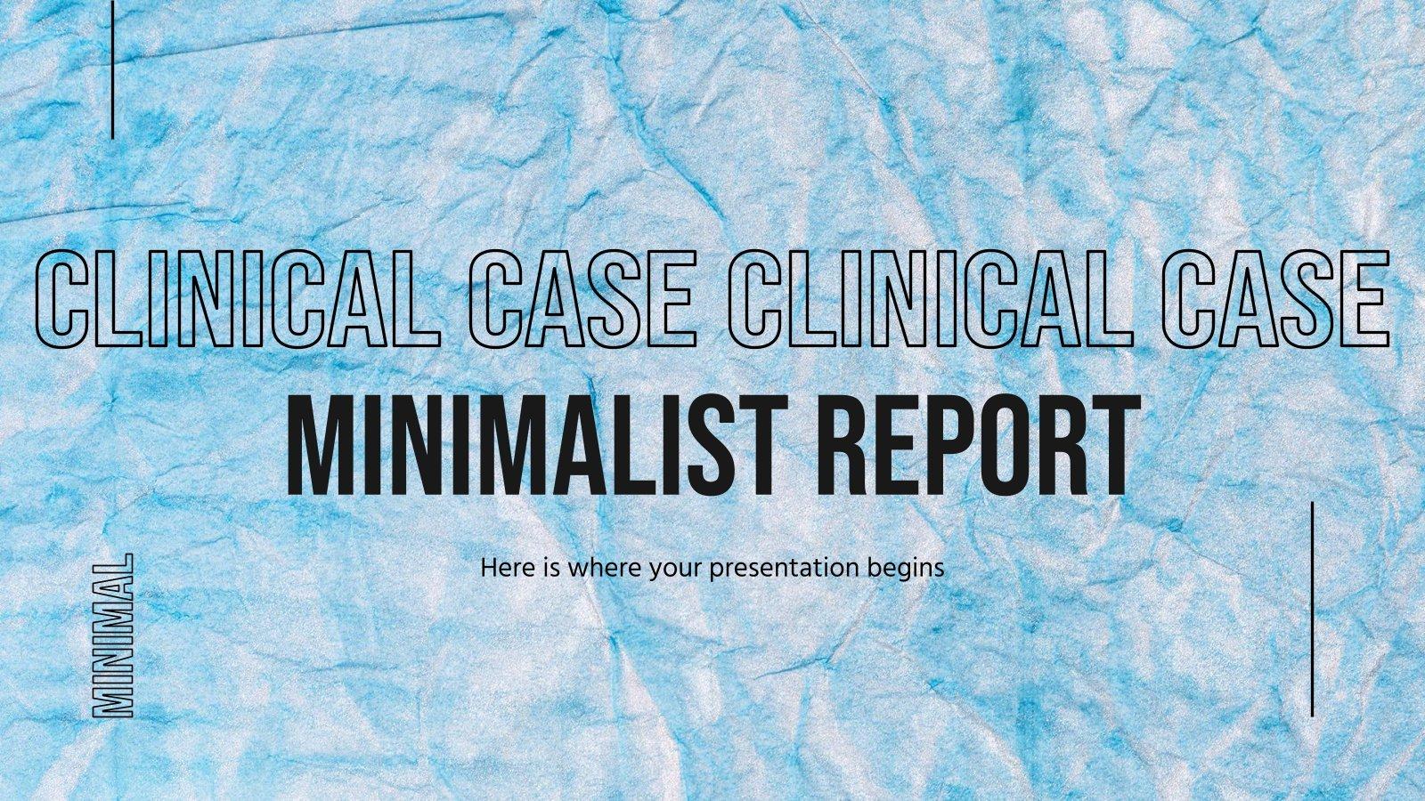 Clinical Case Minimalist Report presentation template