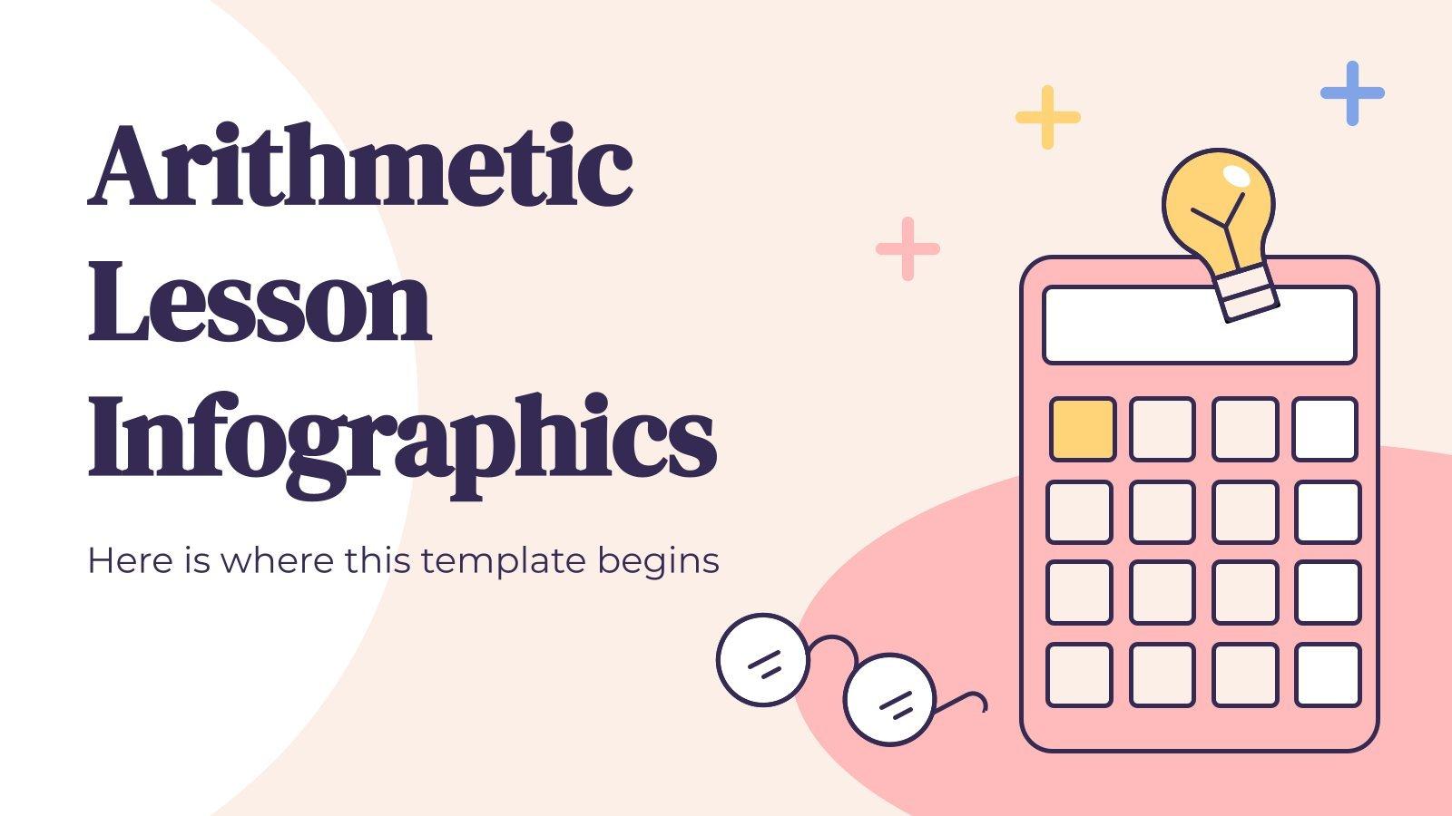 Modelo de apresentação Infográficos aula de aritmética