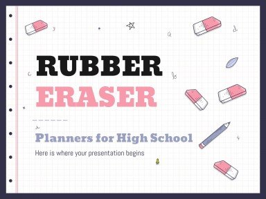 Rubber Eraser Planners for High School 4:3