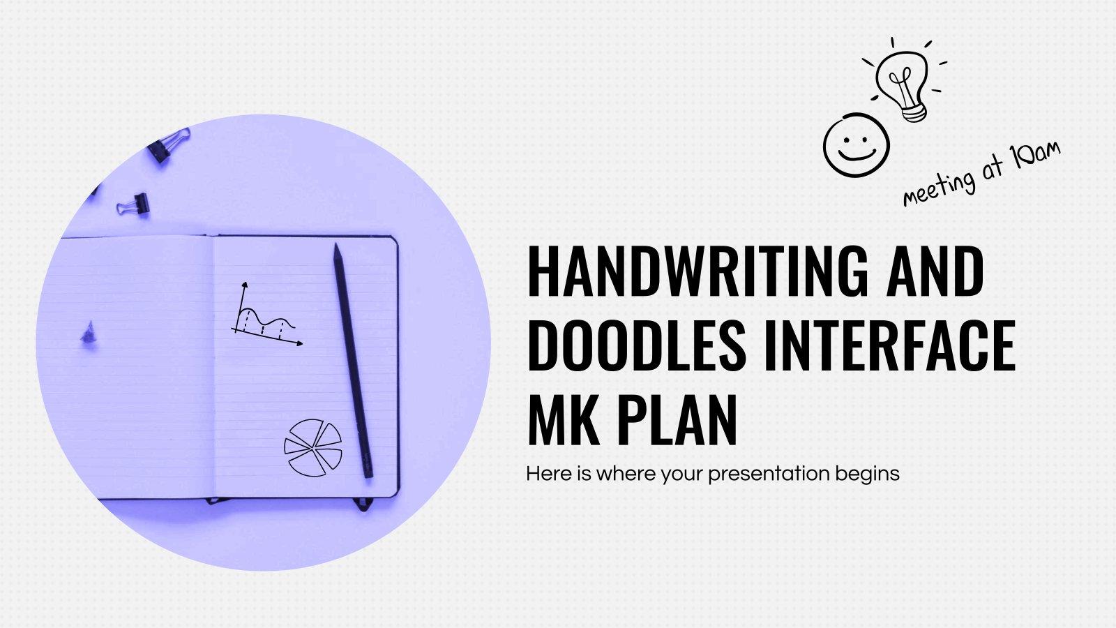 Handwritting and Doodles Interface MK Plan presentation template