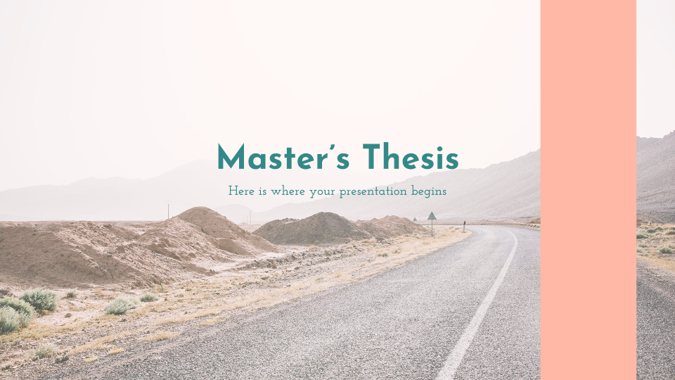 Master's Thesis - Free Presentation Template for Google