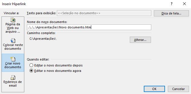 Criar novo documento