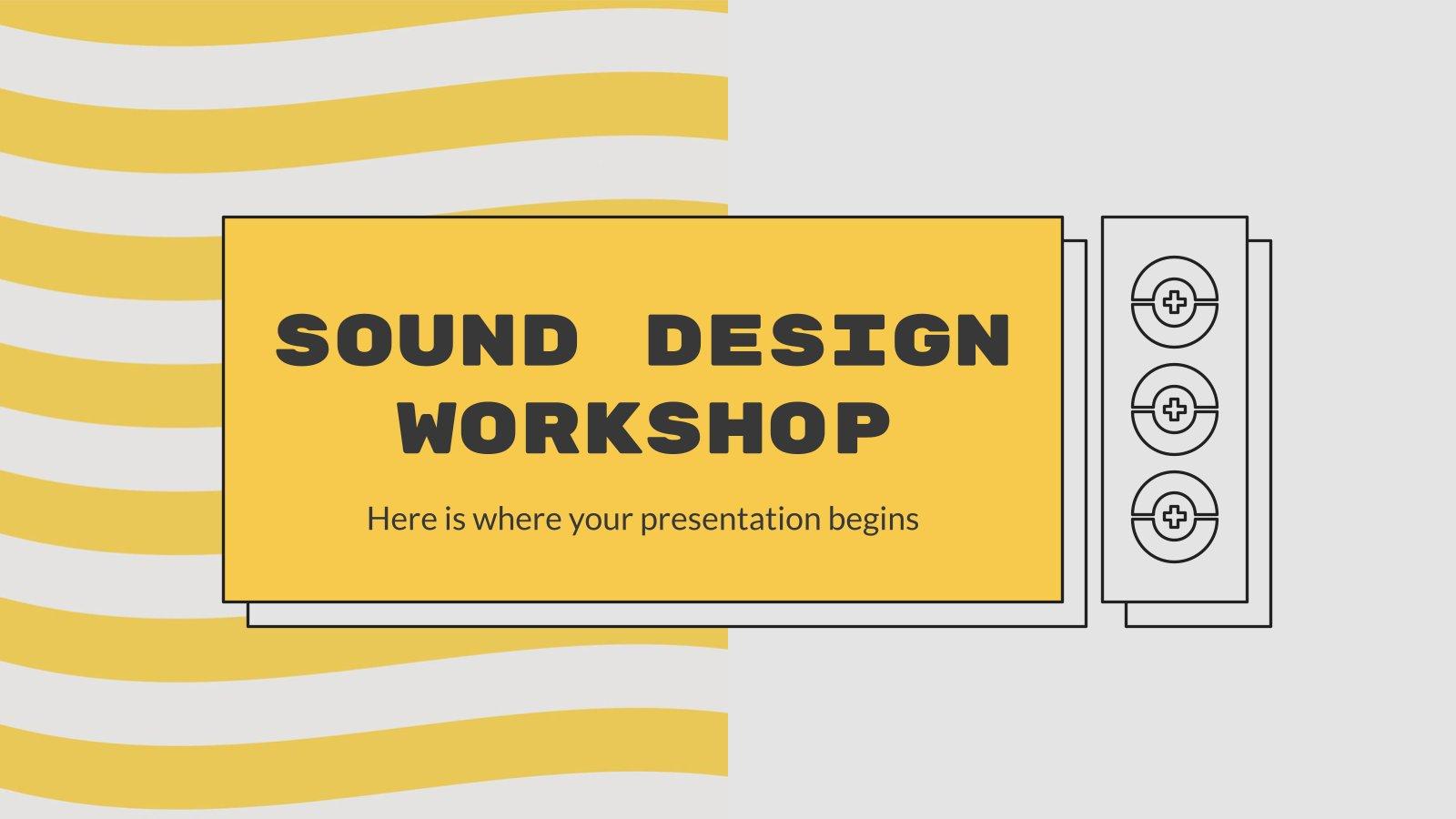 Sound-Design Workshop Präsentationsvorlage