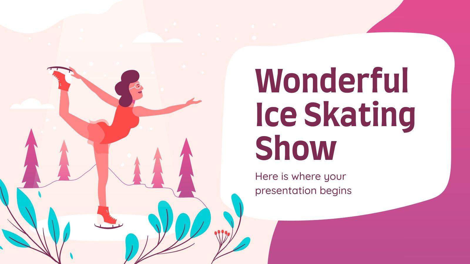 Wunderbare Eislaufshow Präsentationsvorlage