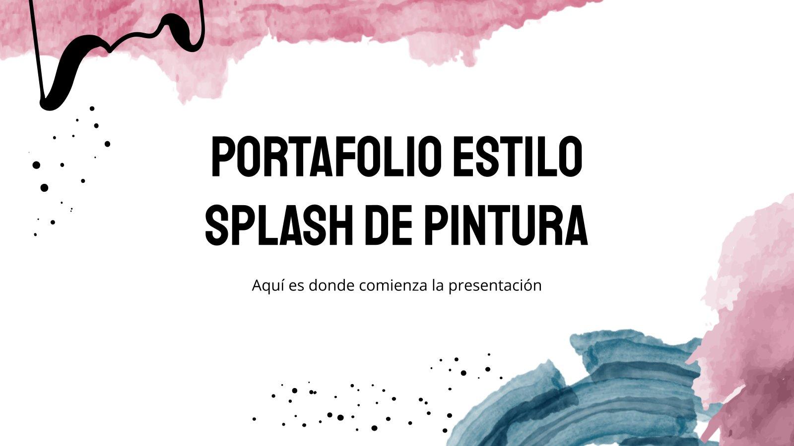 Plantilla de presentación Portafolio estilo splash de pintura