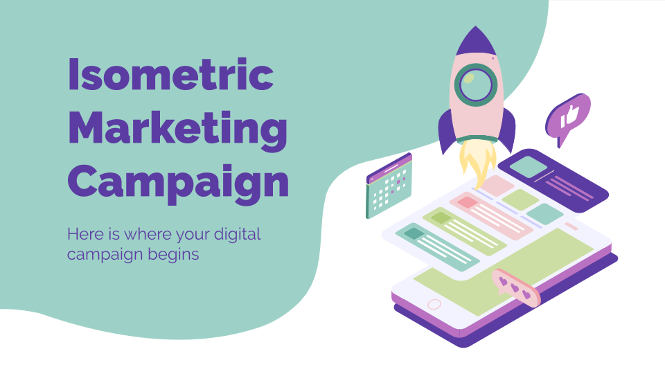 Isometric Marketing Campaign presentation template