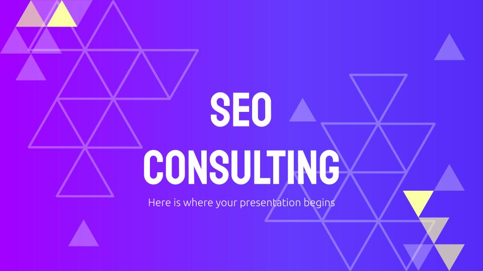 Modelo de apresentação Consultoria de SEO