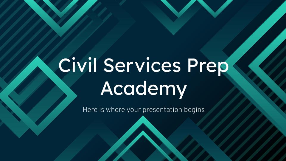 Académie de préparation à la fonction publique : Modèles de présentation