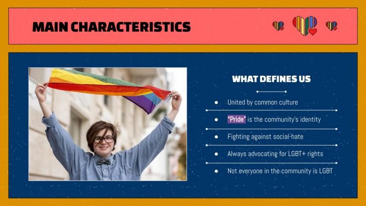 LGTB+ Pride Month Celebration presentation template