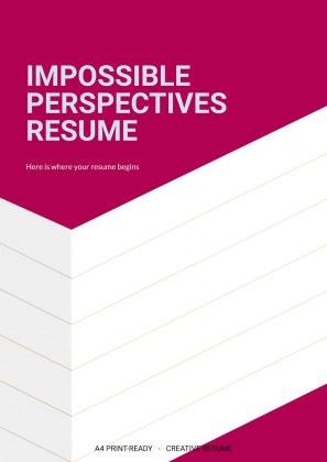 Modelo de apresentação CV de perspectivas impossíveis