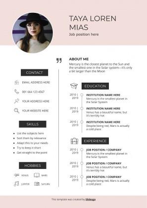 Plantilla de presentación CV moderno Jello