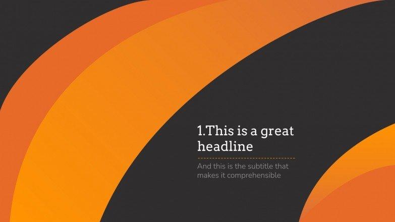 Abstrakt Orange Präsentationsvorlage