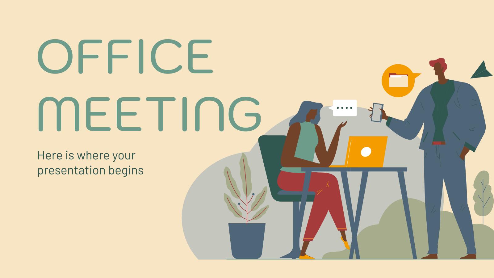 Plantilla de presentación Reunión en la oficina