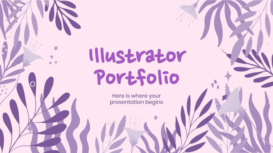 Portfolio de l'illustrateur : Modèles de présentation