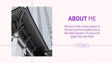 Korean Style Portfolio presentation template