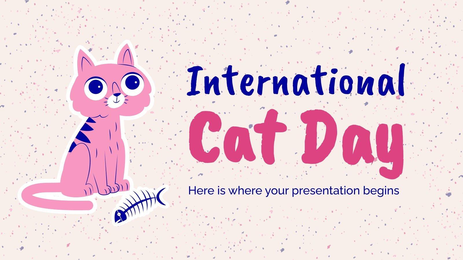 Journée internationale du chat : Modèles de présentation